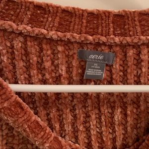 Aerie chenille sweater size xs